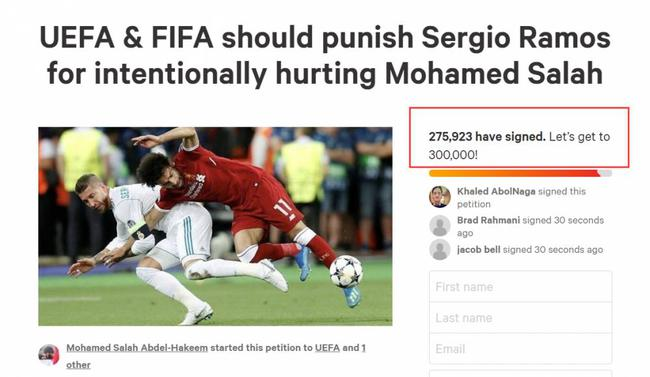 270,000 people petition to punish Ramos